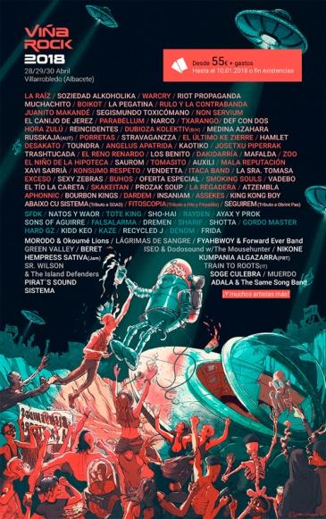 cartel viña rock 2018