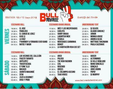 horarios bull music festival