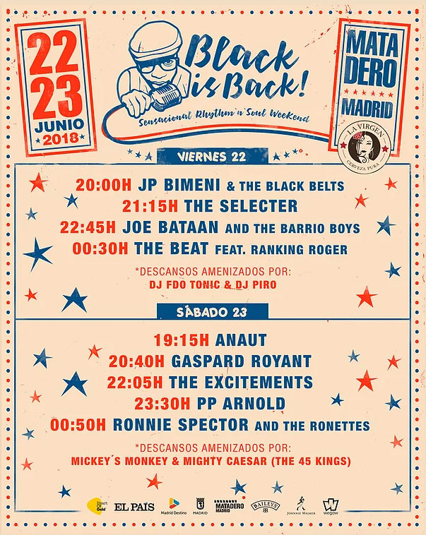black is back 2018 horarios