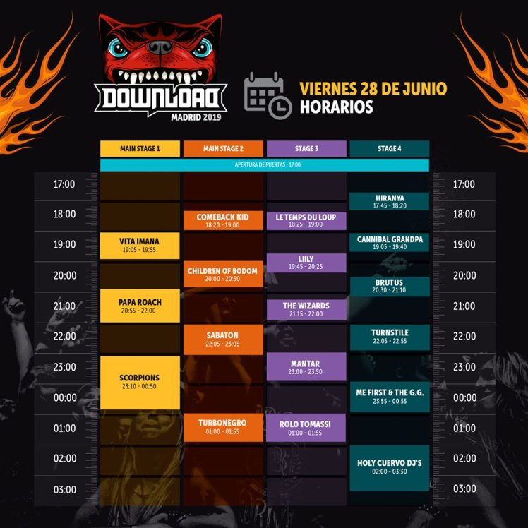Horarios Scorpions Download