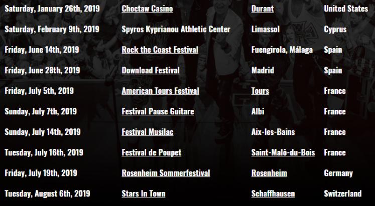 scorpions españa 2019